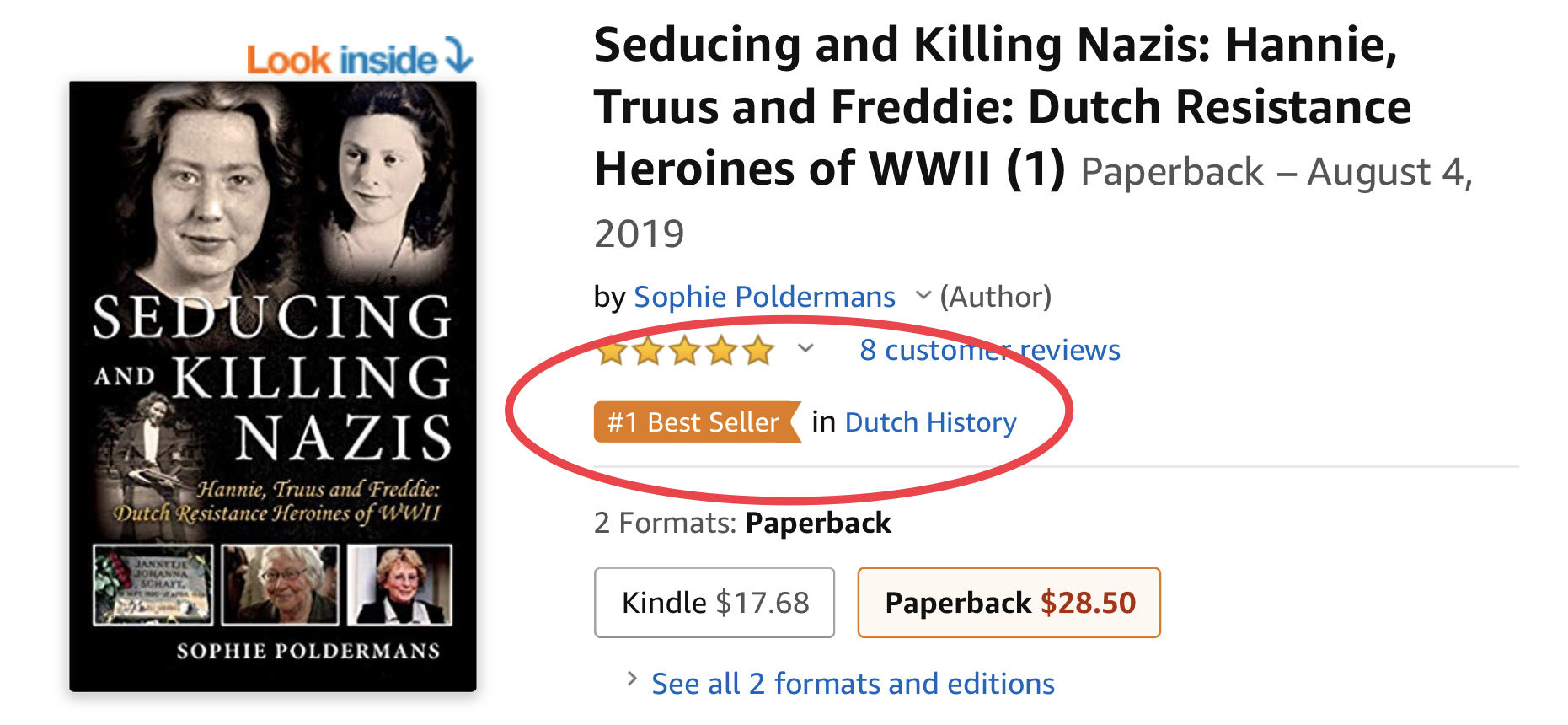 Seducing and Killing Nazis # 1 Best Seller on Amazon!